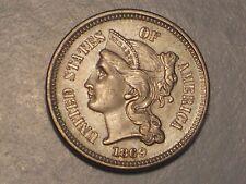1869 Three Cent Piece (AU/UNC & Attractive)