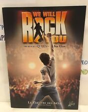 WE WILL ROCK YOU. QUEEN. PARIS, LV.  SOUVENIR BROCHURE PROGRAM USED 2004 RARE