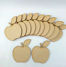 6 or 9 Wood Embellishment blank plaques Wooden Shape  Apple Pack of 3