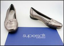 DIANA FERRARI SUPERSOFT WOMEN'S FLAT CASUAL COMFORT PEWTER SHOES SIZE 6.5 C