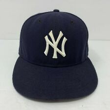 New York Yankees MLB New Era 59Fifty Fitted Hat Navy Blue Cap Size 6 7 /8