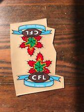 "2 CFL Canadian Football League Mini HELMET DECAL SET Rare 4"" Throwback Vtg Pair"