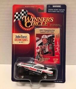 1998 Winners Circle John Force Lifetime Series No 3 of 8 With Collector Card MOC
