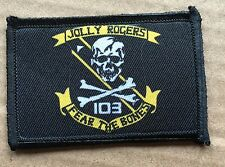 VF 103 F14 Tomcat Morale Patch Jolly Rogers Top Gun Tactical ARMY Hook Military