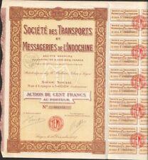 Transports & Messageries de l'INDOCHINE (SAÏGON INDOCHINE) (U)
