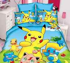 New Pokemon Go Bedding Set 2/3 Piece Twin / Single Bed Girls/Boys Cotton Linen