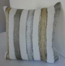 Scandi Silver Grey Pale Gold Brushstrokes Textured Lounge Bed Cushion Cover 45cm