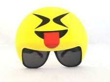 Laughing with Tongue Emoji Sunglasses