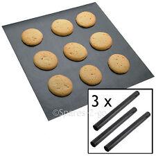 3 x UNIVERSAL Teflon Coated Non Stick Extra Large Baking Oven Sheet Mat Liner