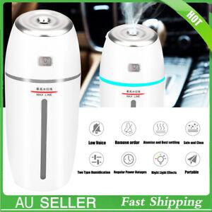 Portable Car Air Humidifier Diffuser Essential Oil Ultrasonic Aroma Mist Aroma