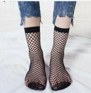 Black Fishnet Cool short Stocking Hosiery Mesh ankle socks  gift