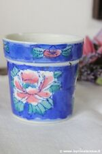 PICCOLO CACHE POT VINTAGE IN CERAMICA DECORATO A MANO H cm 7,5 - VASO - VASETTO