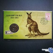 2013 50c UNC MELBOURNE STAMP EXPO KANGAROO AND MAP OVERPRINT PNC FIRST DAY COVER