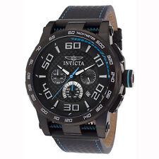 Invicta 15906 Men's Black IP Steel Black Dial Strap Chrono Watch