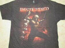 DISTURBED Reaper/Mascot Holding Skulls T-SHIRT Mens XL Metal Band Divide Conquer