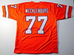 UNSIGNED CUSTOM Sewn Stitched Karl Mecklenburg Orange Jersey - M, L, XL, 2XL 3XL