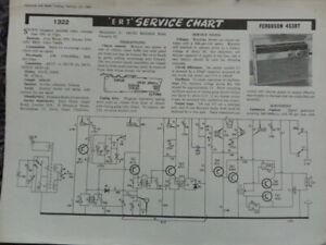 Ferguson Transistor Portable Radio Model 453BT Service manual