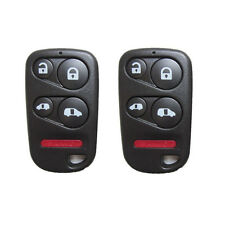 A Pair 5 Buttons Smart Key Fob Shell Case&Button Pad For 2001-2004 Honda Odyssey