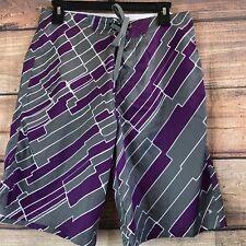 50961e2b06 Men's Oakley Patterned Board Summer Beach Shorts Sz 30 Purple Gray