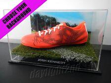 ✺Signed✺ JOSH KENNEDY Football Boot PROOF COA Sydney Swans 2017 Guernsey