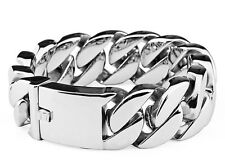 Curb Cuban Titanium Stainless Steel Bracelet �Fast Ship from Us】 Rocker Biker