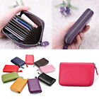 NEW Womens Leather Mini Slim Wallet ID Credit Card Holder Case Organizer Purse H