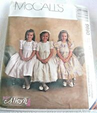 1998 Alicyn Exclusives Children and Girls Dress McCalls Pattern 9690 / Sz 4-6