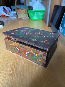 Wunderschönes altes Nähset Nähzeug in Holzbox RETRO VINTAGE inklusive allem