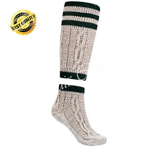 Mens Brown Bavarian Oktoberfest Socks Long Causal Lederhosen Socks Pairs 2 Piece