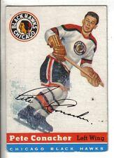 1954-55 Topps Hockey Card #33 Pete Conacher, Jr. Chicago Black Hawks EX.