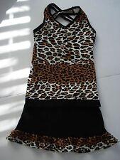 Girls Pizzazz Rerformance Wear Animal Print Cheer/Dance/Gymnastcs Size M