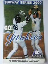 NEW YORK YANKEES METS 2000 SUBAY WORLD SERIES POSTER MSG FOXSPORTS 2-SIDED