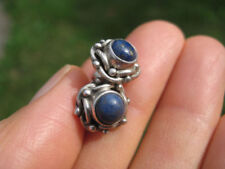 925 Silver Lapis Lazul Lazuli pair earring stud Earrings Nepal Jewelry art