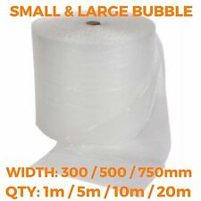 Bubble Wrap Rolls - 300 500 750mm - Small & Large - SMALL QTY - 1m 5m 10m 20m