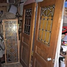 Mid Century Modern Stained glass Window Transom 1960s 70s Architectural Salvage : salvage doors nashville - pezcame.com
