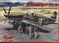 ICM 48125 P-51B with USAAF Pilots and Ground Personnel 1/48 plastic model 205mm