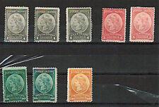 (1901) GJ.35, 37, 38, 40. OFICIALES. MNH & MH & 1 No gum....