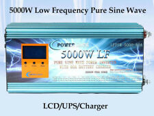 LCD 5000W LF Pure Sine Wave Power Inverter DC 24v to AC 230v Charger/ups