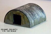 Unit Models 00-048P - 1 x Hand Painted Cast Pig Hut 1/76 Scale = 00 Gauge 1stPos