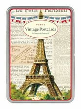 Cavallini - Carte Postale - Paris Eiffel Tower - Tin of 18 Postcards - 9 Designs