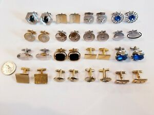 AWESOME Quality Vintage Mod Cufflinks LOT LaMode 12kgf Foster Sterling Destino+