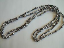 """925 silver clasp freshwater pearl necklace,2 strands,34""""long,purple,gray,great"""