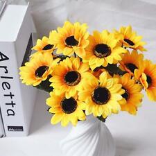 Fashion Home Wedding Garden Decor Artificial Fake Silk Sun Flower Hydrangea