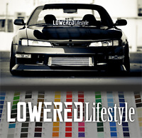 "Lowered lifestyle banner 35""JDM car vinyl decal windshield sticker"
