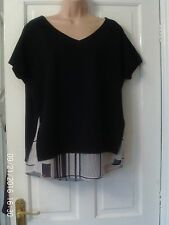 NAVY BLUE CAPPED SLEEVE TOP BY NEXT, SIZE 14