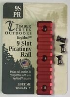KeyMod™ 9 SLOT PICATINNY/WEAVER RAIL HANDGUARD SECTION ANODIZED RED MADE IN USA