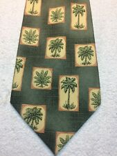 TOMMY BAHAMA MENS TIE SHADES OF GREEN WITH PALM TREES 4.25 X 61
