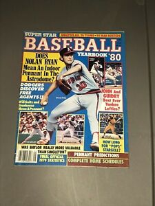 1980 SUPER STAR BASEBALL YEARBOOK NOLAN RYAN ANGELS on COVER