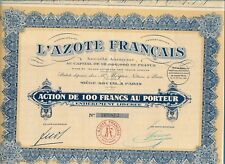 Actions L'AZOTE Français 1926 (169813)