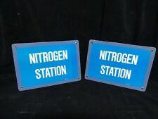 "Azote Station Sign - Fibre de Verre Matériel - Mesure 10 "" x 7 "" (Lot De 2) Neuf"
